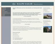 Bild Webseite Rechtsanwalt Sailer Konstanz