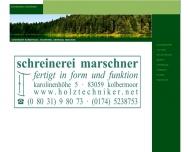 Bild Webseite schreinerei marschner Kolbermoor