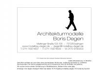 Bild Architekturmodelle Degen