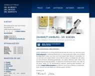 Bild Webseite Zahnarzt Hamburg Winterhude - Praxis Dr. Friedrich Korden Hamburg