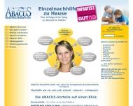 Website ABACUS-Nachhilfeinstitut