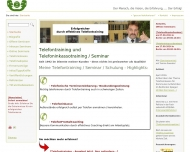 Website Peilicke Telefontraining