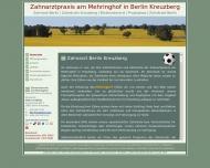 Bild Webseite Zahnarzt :: ZaM Kinder Zahnarzt Praxis am Mehringhof Berlin Kreuzberg Berlin