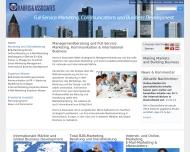 Bild Webseite Harris & Associates Frankfurt