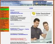 Website Kabel Deutschland Servicebüro Bauer
