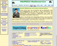 Website MAIPRESS Medienservice