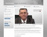 Website Anwaltskanzlei Beeck Jürgen, van de
