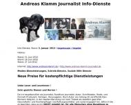 Bild Webseite Journalisten-Büro Andreas Klamm Neuhofen