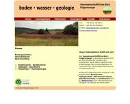 Bild Webseite Geowissenschaftliches Büro Dipl.-Geol. R. Felgentraeger Nürnberg