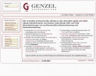 Bild Webseite Genzel Datenservices Köln