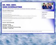 Website Dr.med.univ. Hans Schönleitner