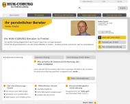Website HUK-COBURG Kundendienstbüro Heiko Eisold
