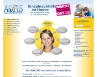 Website Abacus- Einzelnachhilfe zu Hause