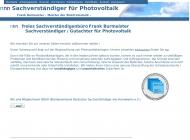 Bild Webseite Sachverständigenbüro Burmeister Berlin