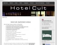 Bild Webseite Hotel Cult Frankfurt