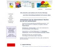 Bild Webseite Schmidt Grafik- und Webdesign Dischingen