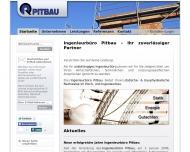 Website Ingenieurbüro Pitbau