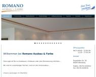 Bild Webseite Romano Innenausbau Nürnberg