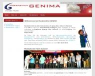 Website Musikinstitut GENIMA