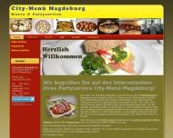 Website Bistro & Partyservice City-Menü