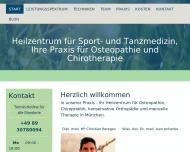 Website Heilzentrum für Sport- und Tanzmedizin Osteopath und Heilpraktiker Christian Beregov