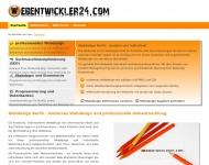 Bild Webseite webentwickler24 Berlin
