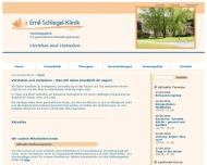 Website Emil-Schlegel-Klinik