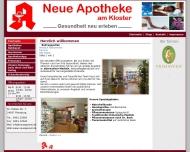Website Neue Apotheke am Kloster