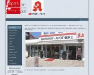 Bild Webseite Bahnhof-Apotheke Sylt-Ost