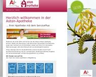 Bild Webseite Aston-Apotheke Magdeburg