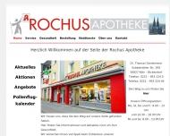 Bild Webseite Rochus-Apotheke Köln