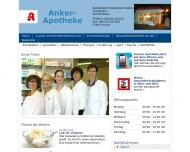 Bild Webseite Anker-Apotheke Mainz