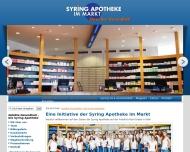 Bild Webseite Syring-Apotheke im Markt Köln