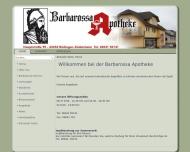 Bild Webseite Barbarossa-Apotheke Büdingen