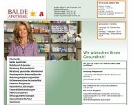 Bild Webseite Balde-Apotheke München