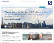 Bild Webseite Deutsche Bank Köln