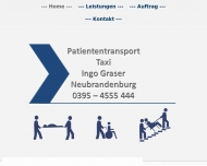 Website Ingo Graser - Patiententransport und Taxi