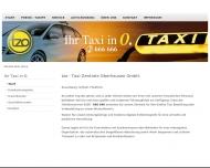 Bild Webseite tzo-TAXI- ZENTRALE OBERHAUSEN Oberhausen