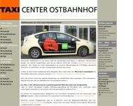 Bild Webseite Taxi Center Ostbahnhof München