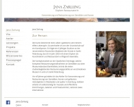 Website Jana Zarlung, Dipl.Restauratorin