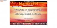 Website Namaste! - Praxis für Osteopathie