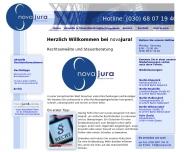 Bild Webseite novajura Rechtsanwalts Berlin