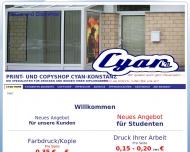 Bild Webseite Copyshop Cyan- Konstanz Konstanz