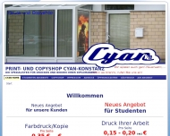 Website Copyshop Cyan- Konstanz