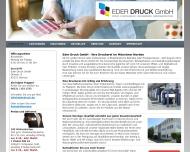 Bild Webseite Eder Druck Dachau