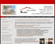 Website Hausverwaltung Koller in Pfaffenhofen