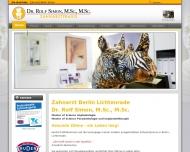 Bild Webseite Zahnarzt Berlin | Dr. Rolf Simon Berlin