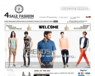 Website 4SALE-FASHION.DE - 4sale eCommerce Ltd. Deutschland