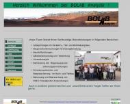 Bild Webseite BOLAB Analytik Ingenieurgesellschaft Berlin