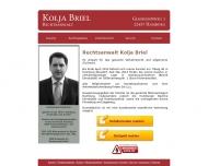 Website Rechtsanwalt Kolja Briel